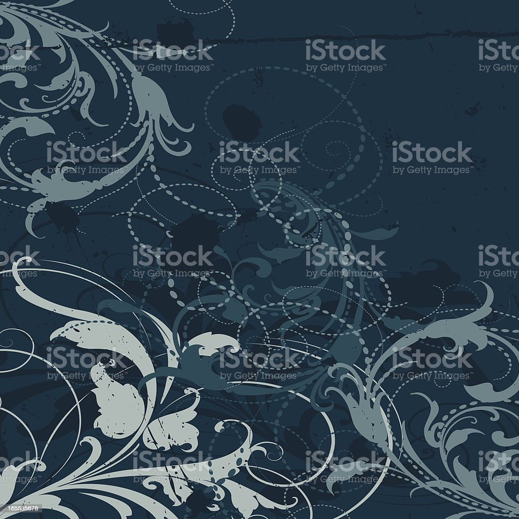 Dark Scroll Grunge royalty-free stock vector art