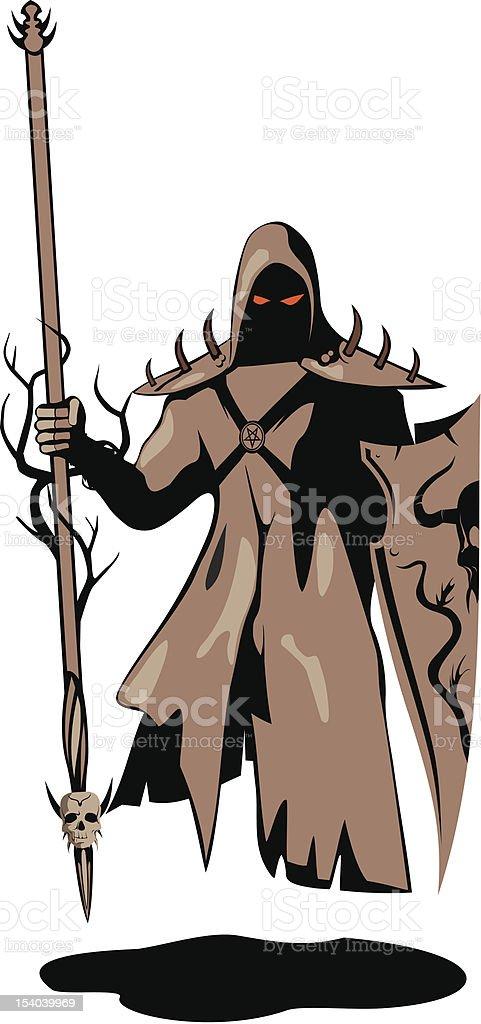 Dark warrior vector art illustration