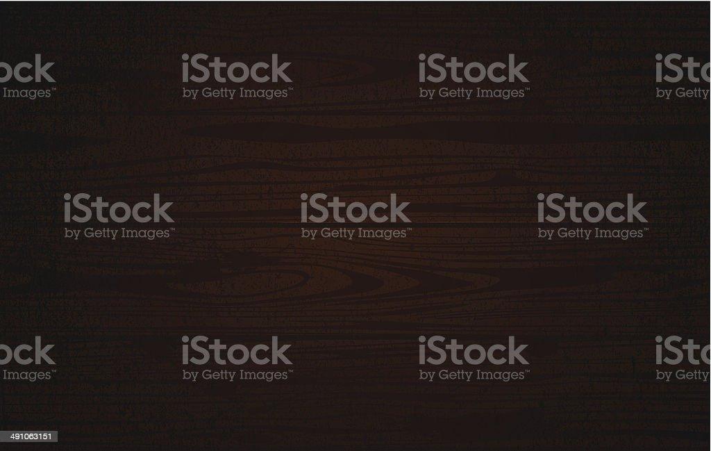 Dark wooden background vector art illustration