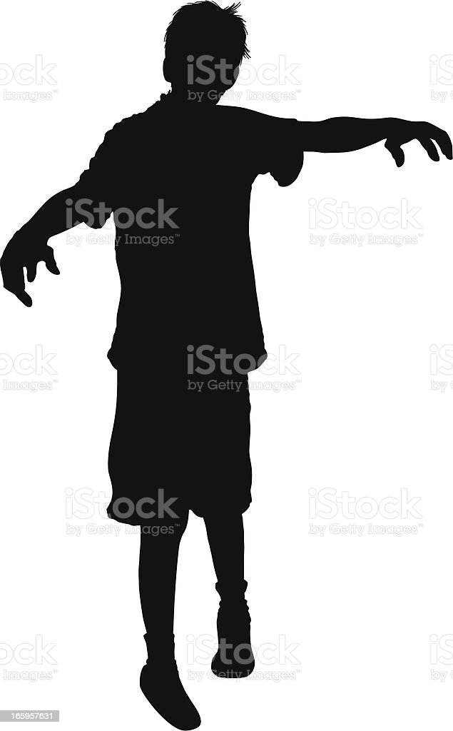 Darren the Zombie! royalty-free stock vector art