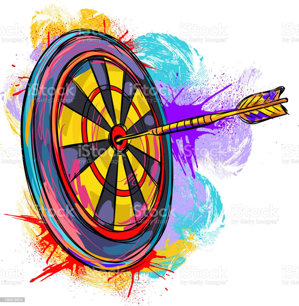 Dart Board vector art illustration
