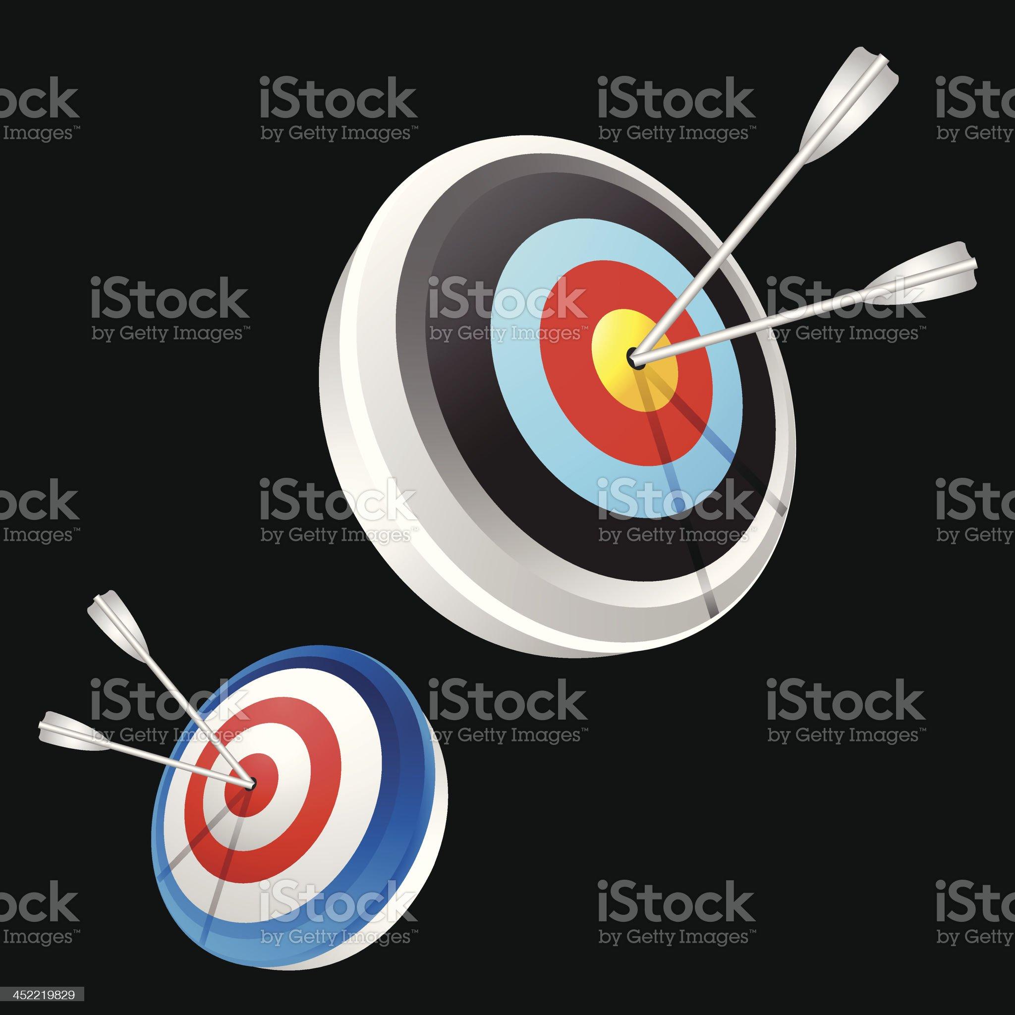 Dart Hitting A Target royalty-free stock vector art