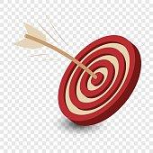 Dart in the target cartoon