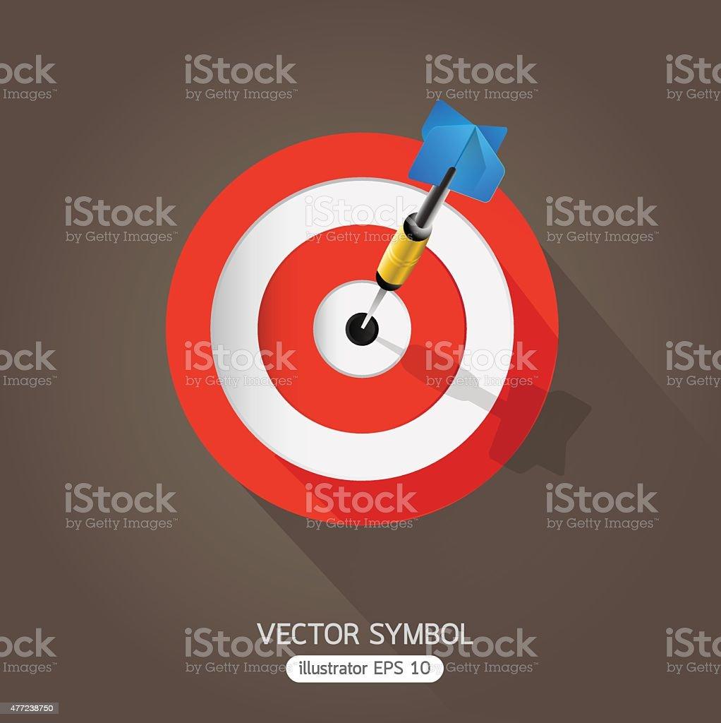 Dart symbol. vector art illustration