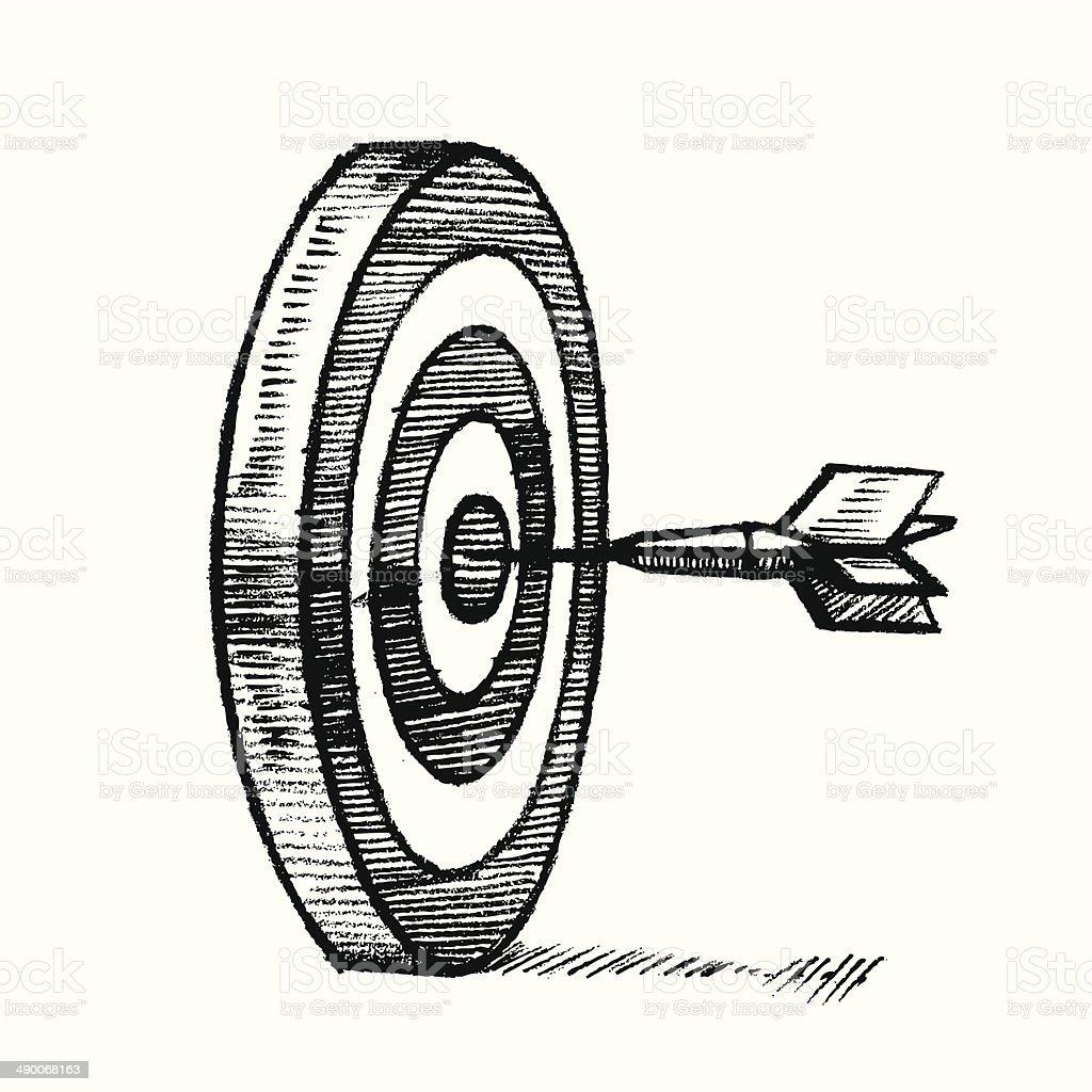 dart target bullseye vector art illustration