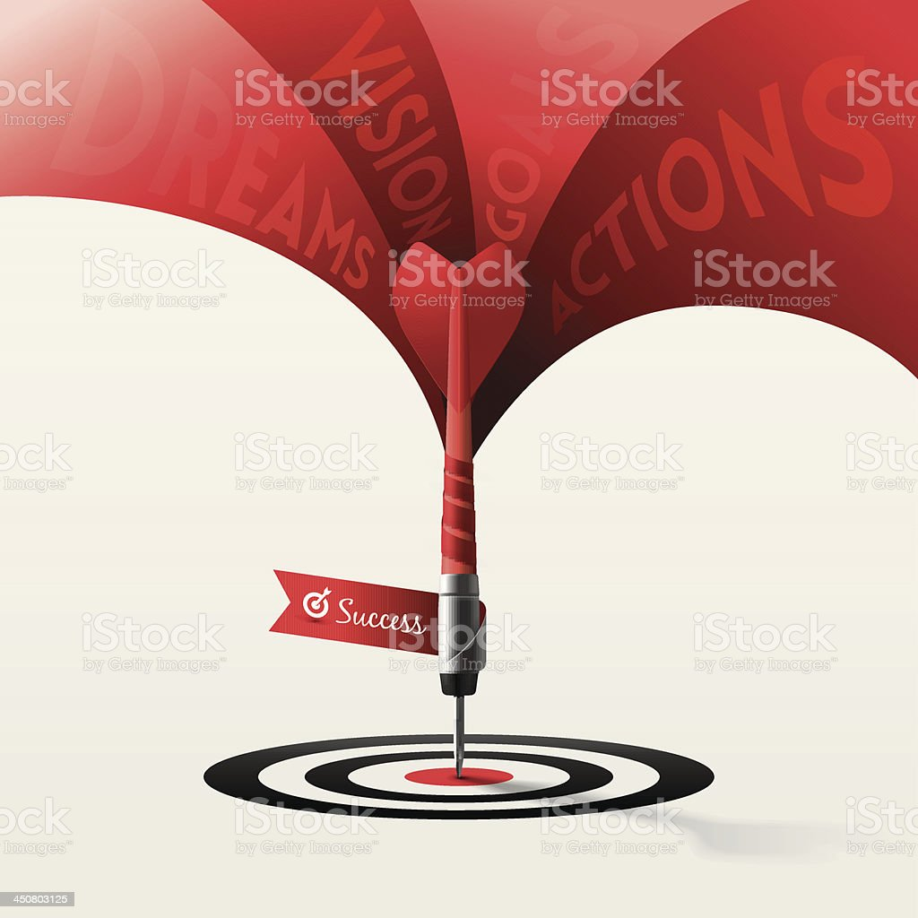 Dart Target Business Concept royalty-free stock vector art