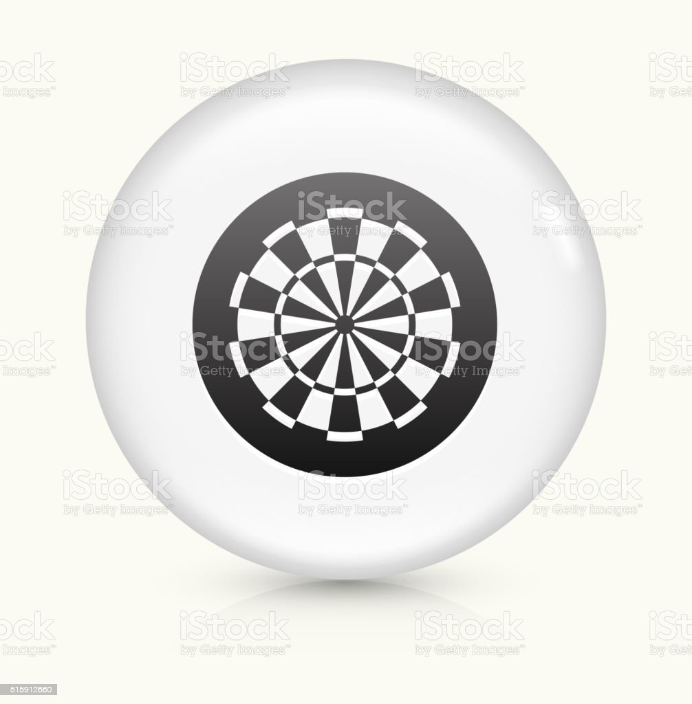 Dartboard icon on white round vector button vector art illustration