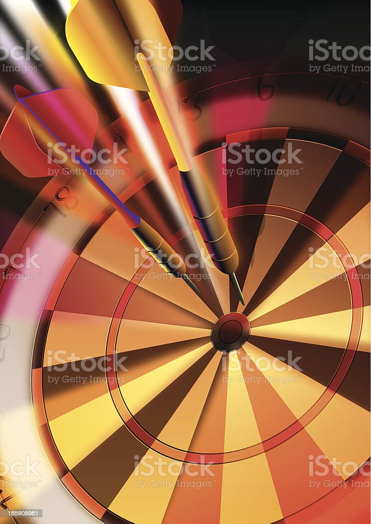Dartboard & Target Background vector art illustration