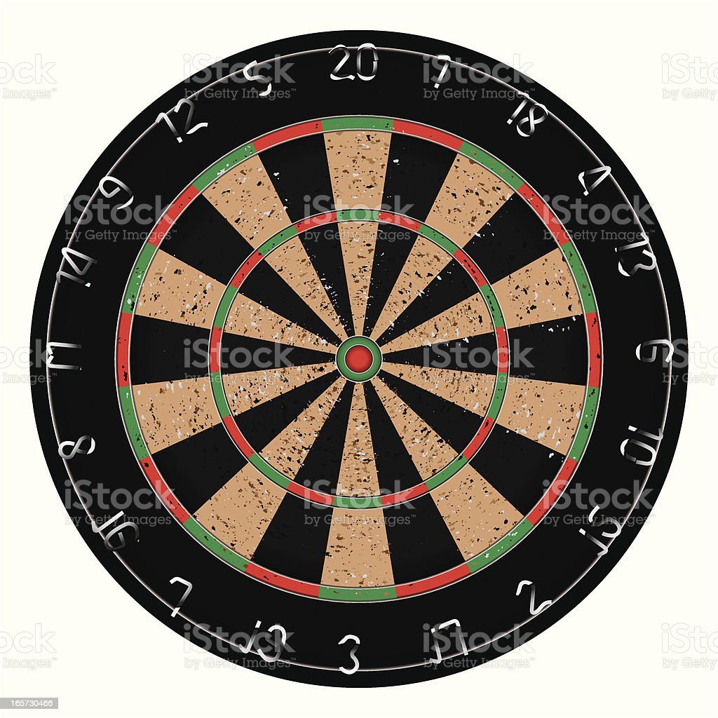 Dartboard & Target vector art illustration
