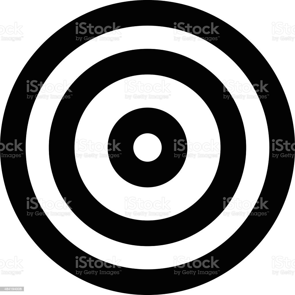Dartboard Vector Icon vector art illustration