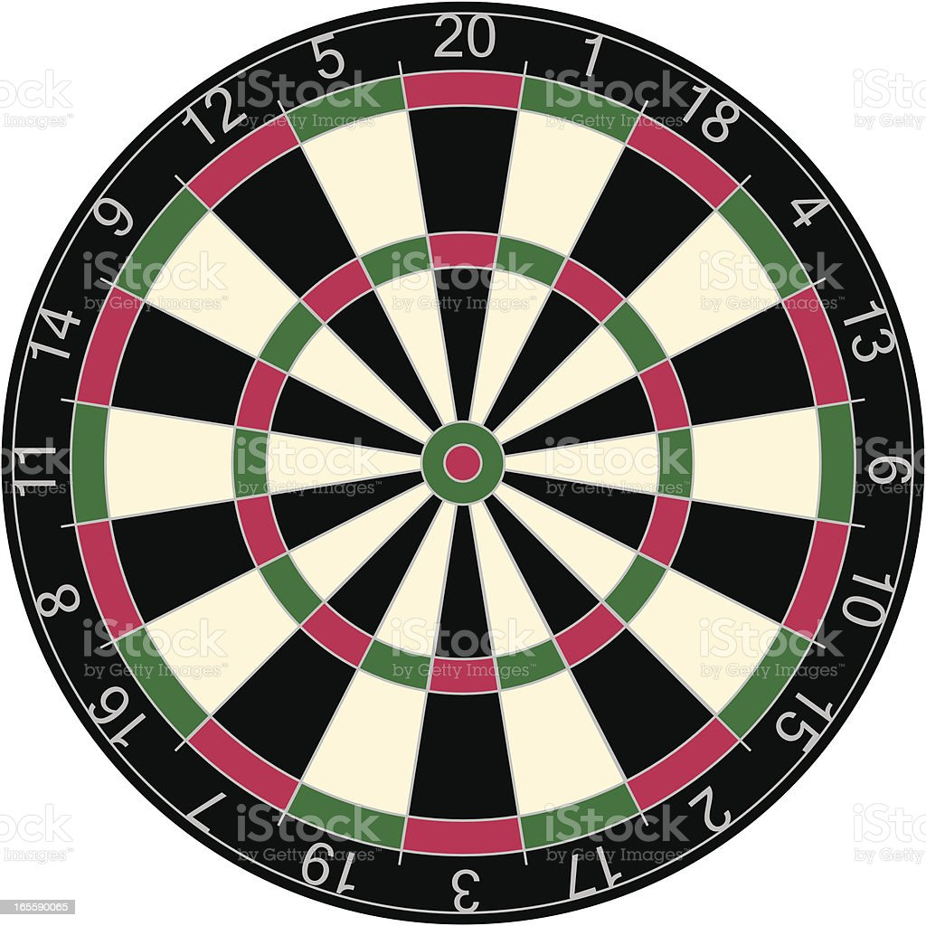 Dartboard vector art illustration