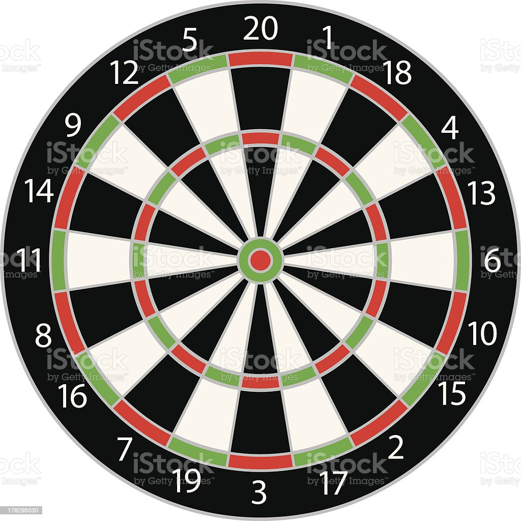 Dartboard Vector Illustration Isolated vector art illustration