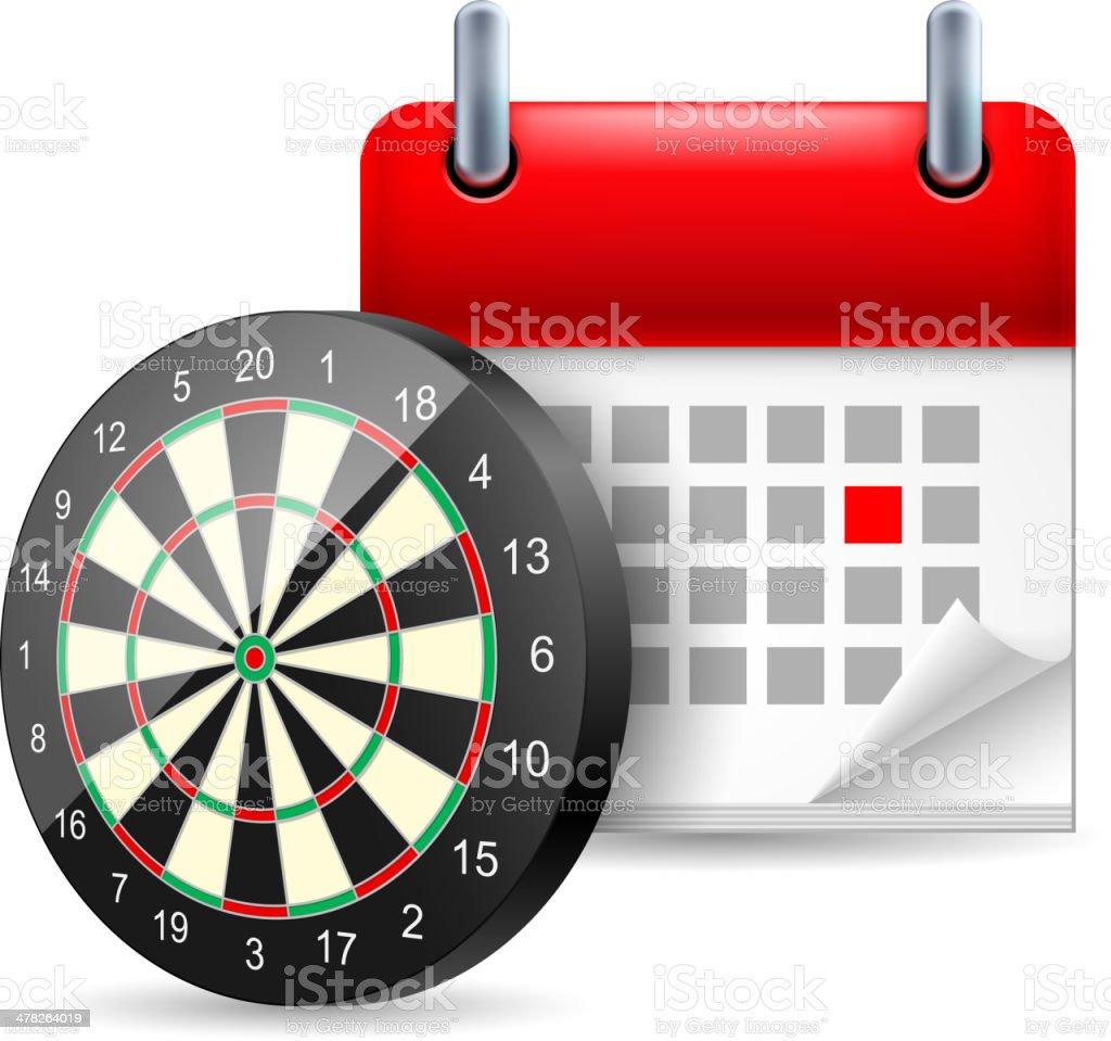 Darts and calendar royalty-free stock vector art