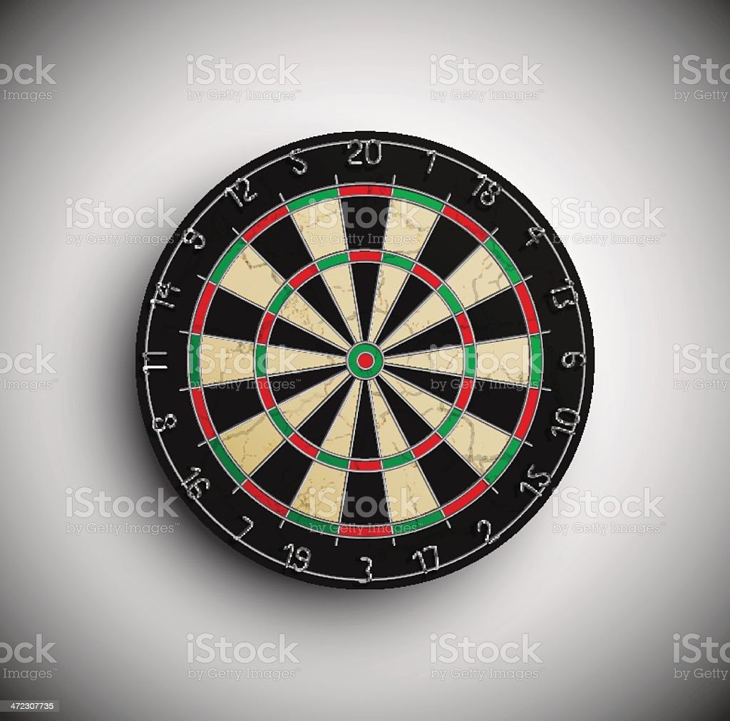 Darts board royalty-free stock vector art