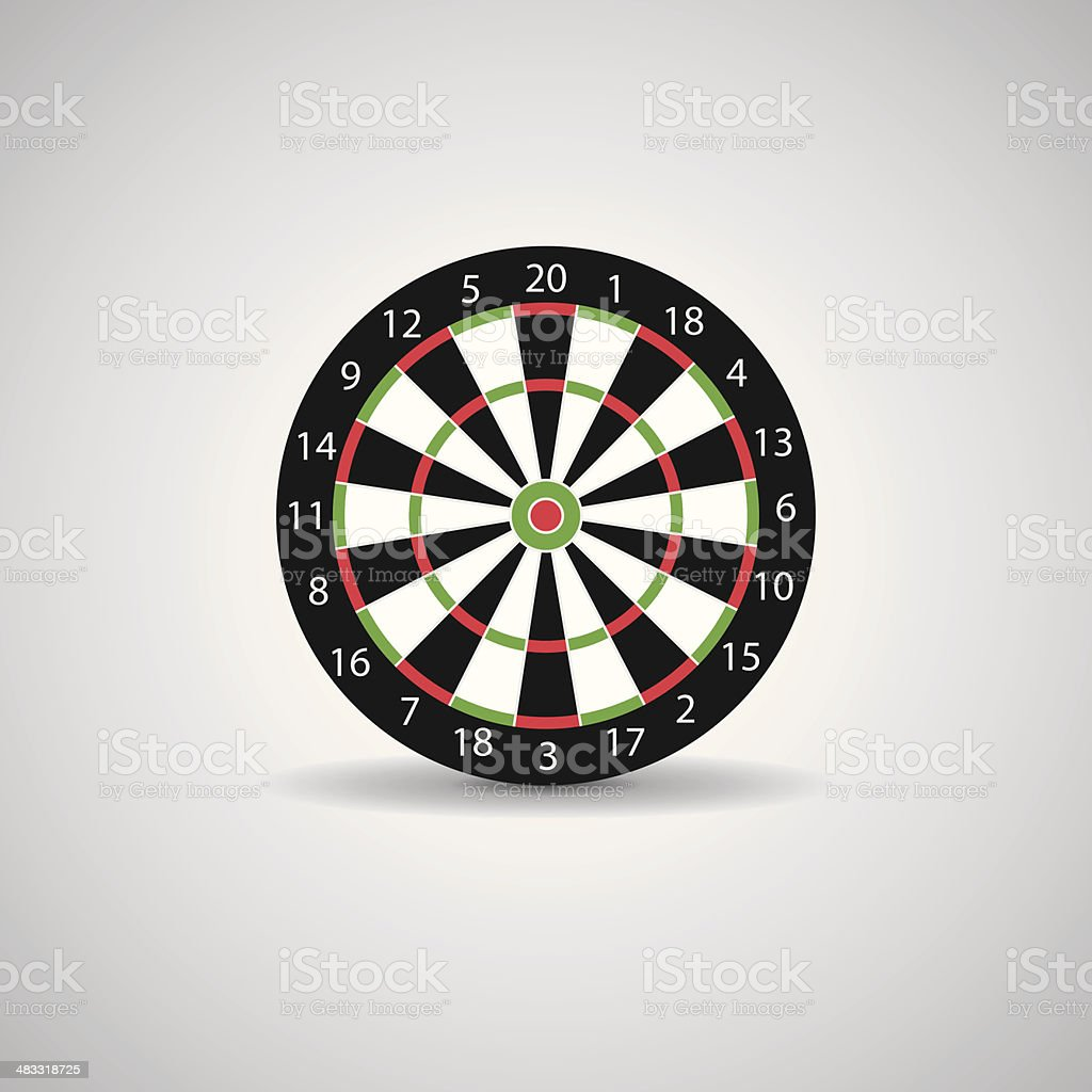 Darts board vector art illustration