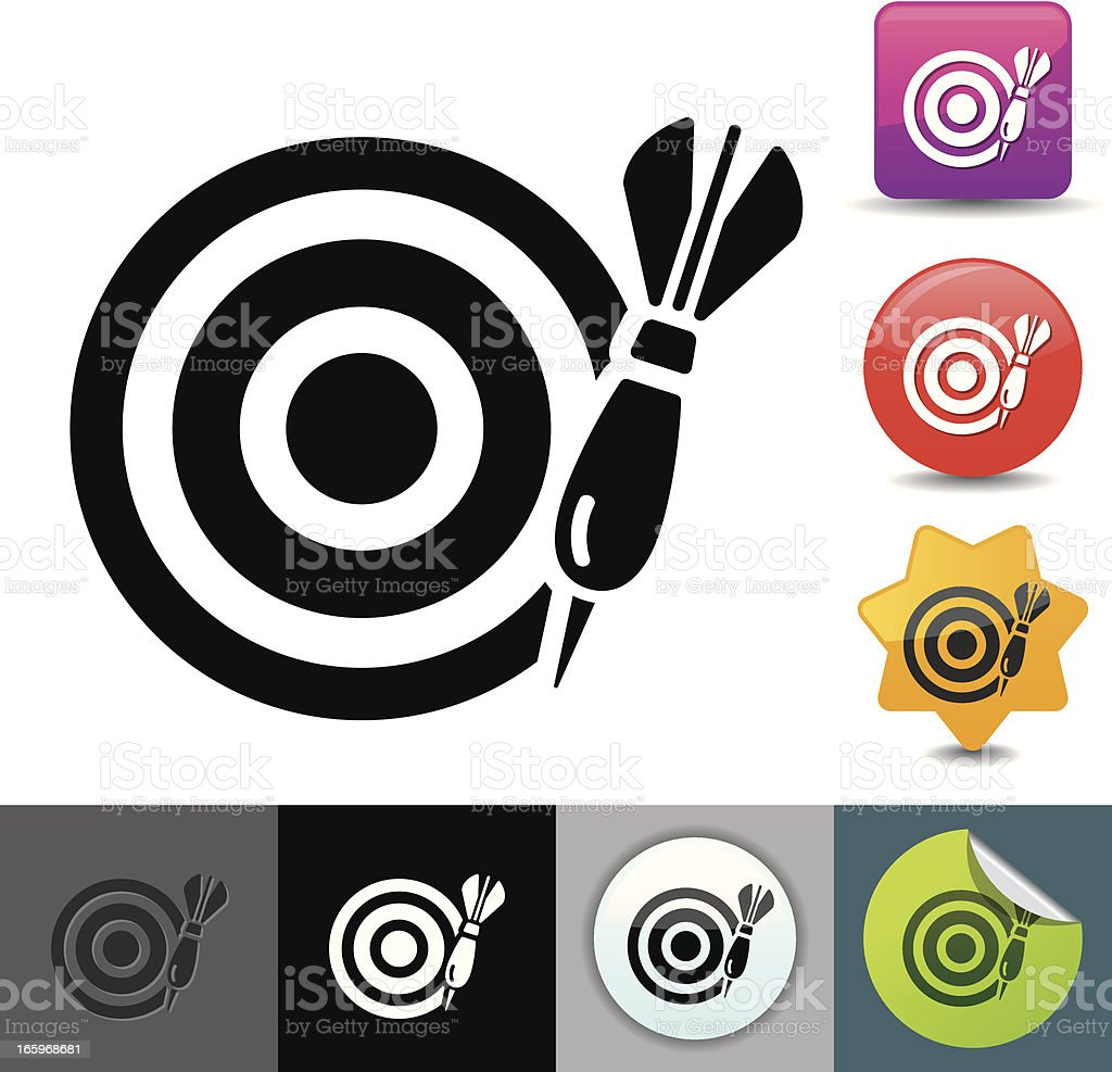 Darts icon | solicosi series royalty-free stock vector art