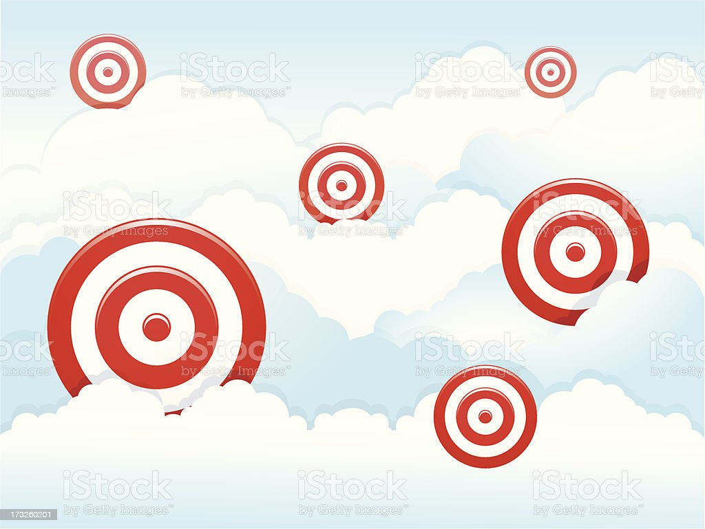 Darts in the cloud royalty-free stock vector art