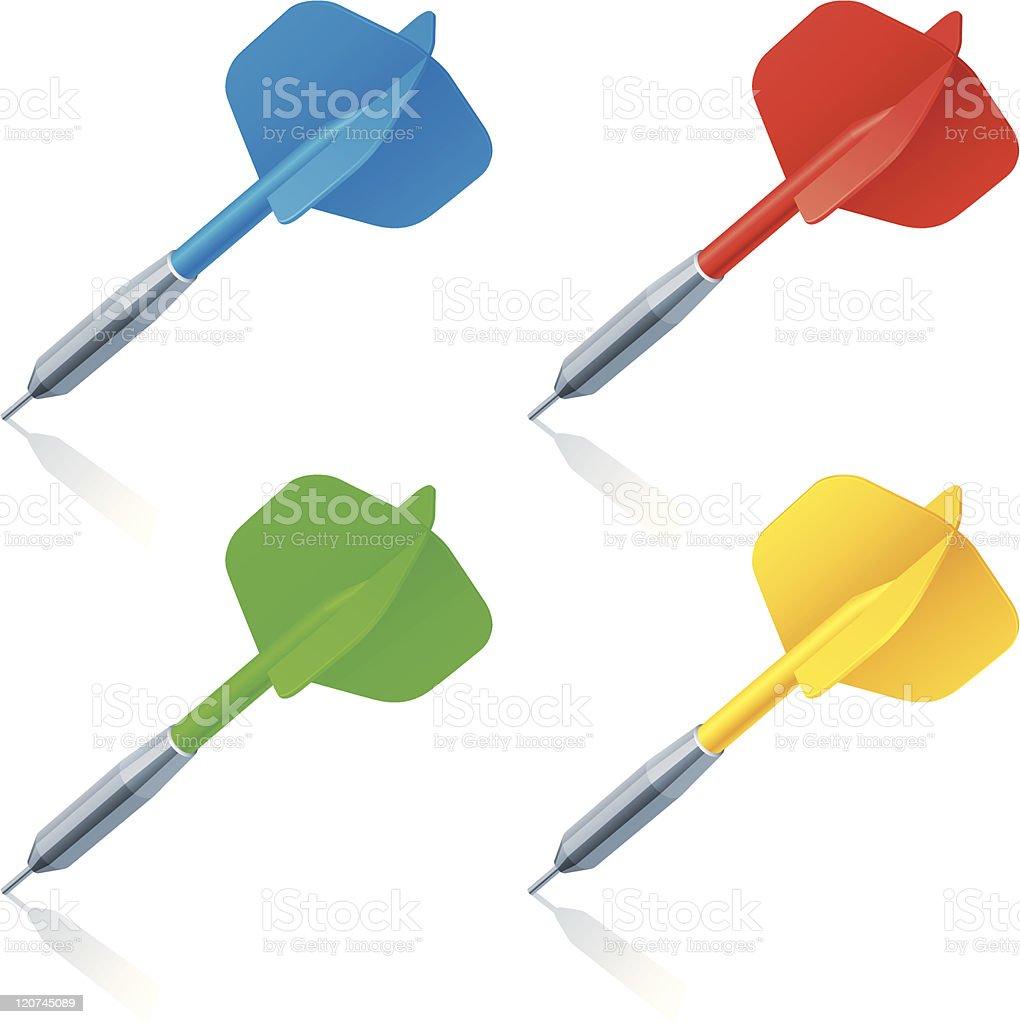 Darts. vector art illustration