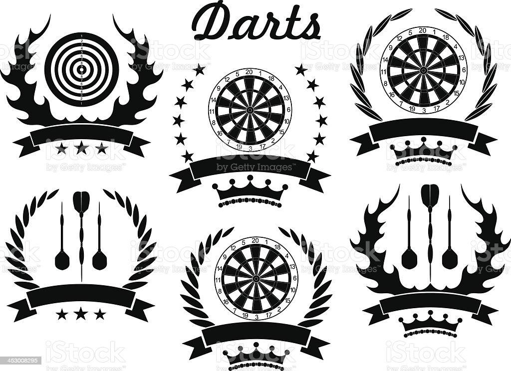 Darts vector art illustration