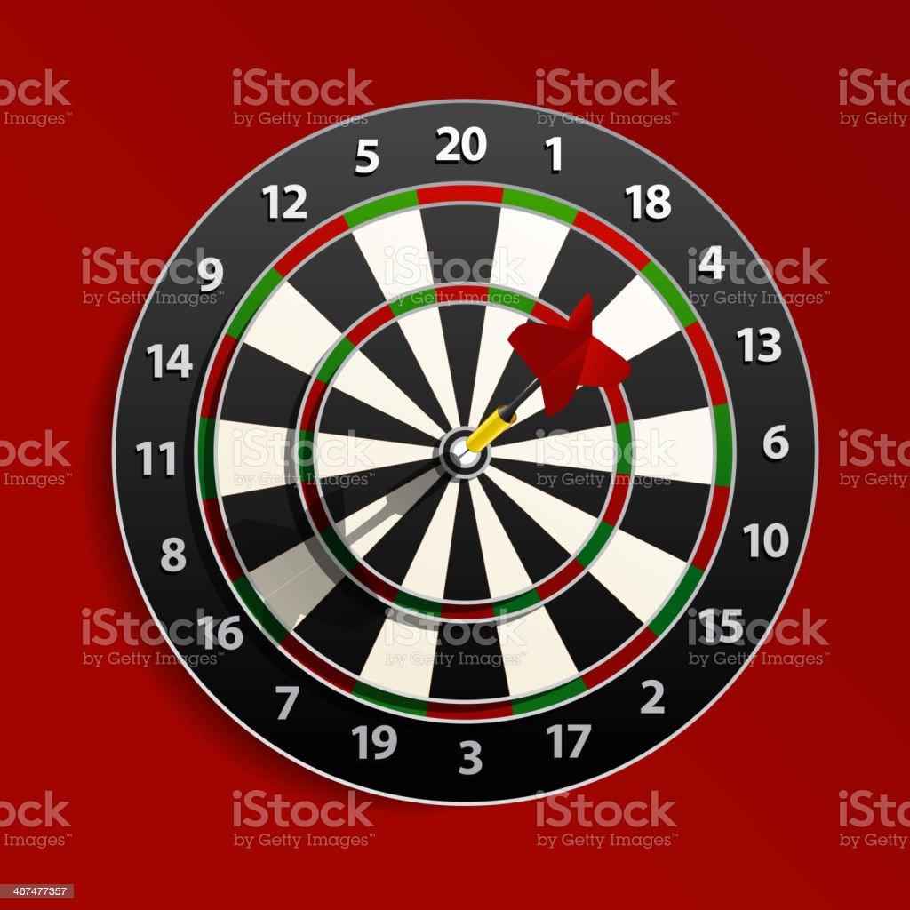 Darts royalty-free stock vector art
