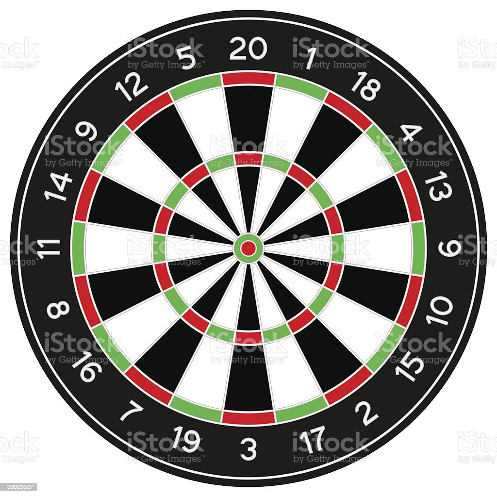 darts vector art illustration