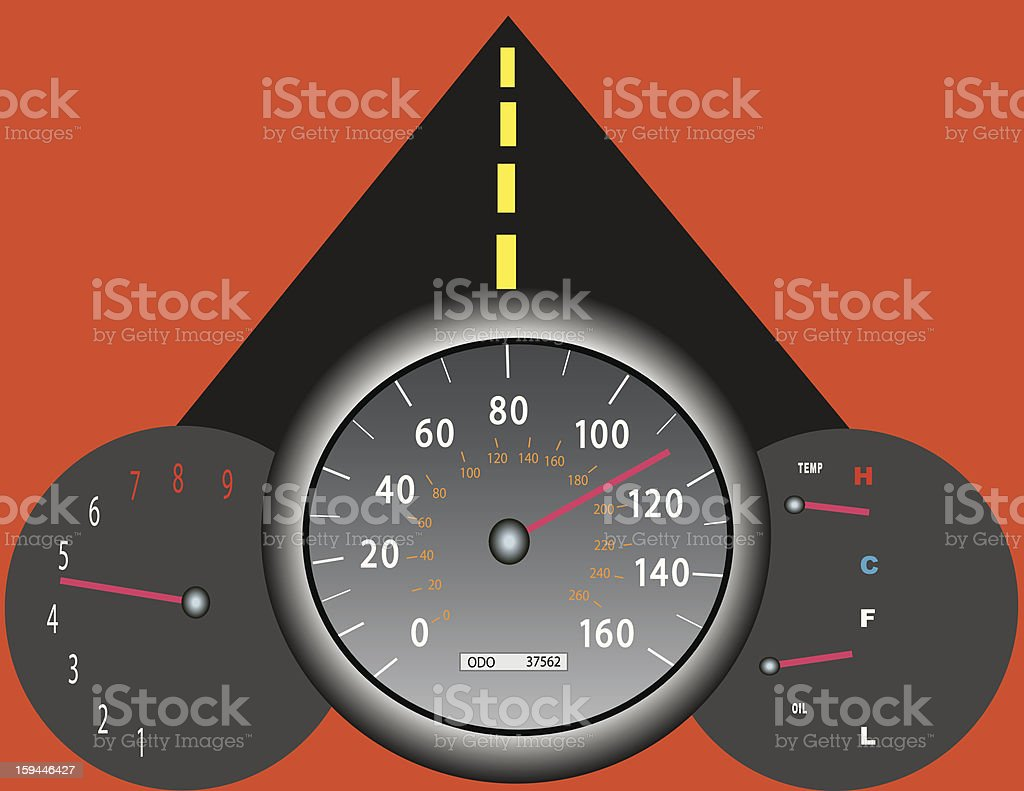 Dash Board for Speed royalty-free stock vector art