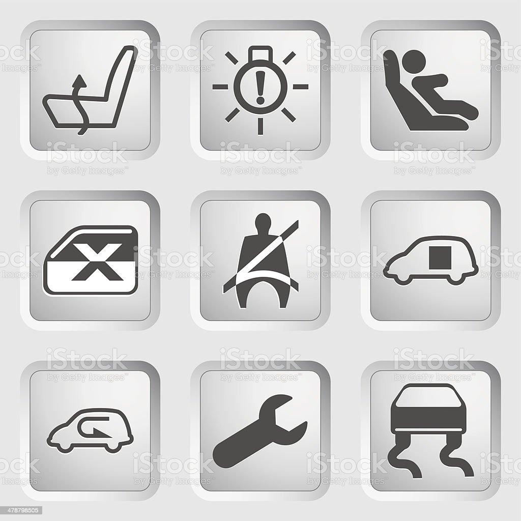 Dashboard icons set 5 vector art illustration