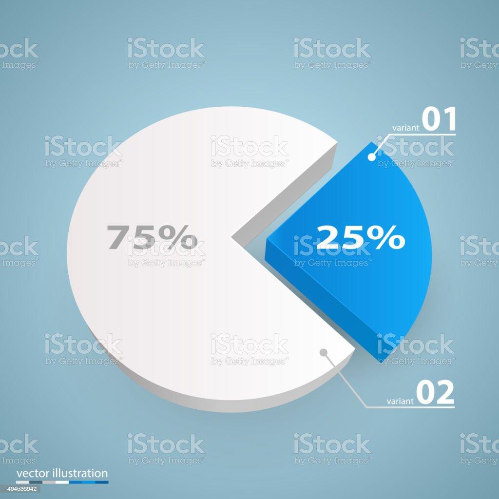 Data 3d growth chart vector art illustration