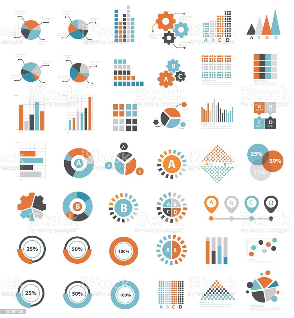 Data analysis design for info graphic,clean vector royalty-free stock vector art