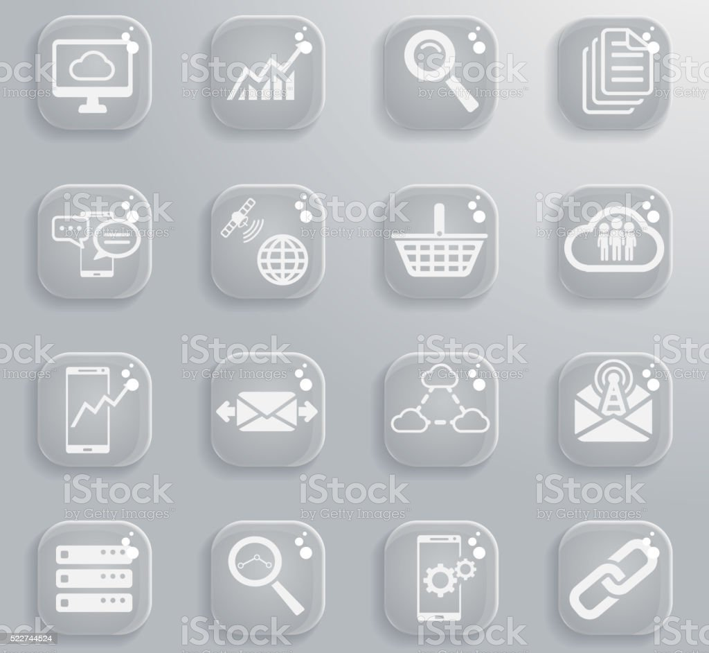 Data analytic simply icons vector art illustration