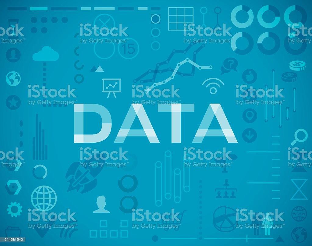 Data and Statistics Elements Background vector art illustration