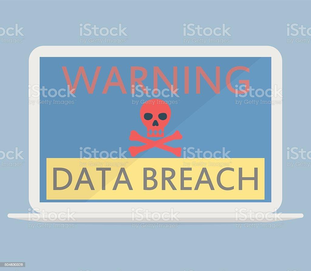 Data breach concept vector art illustration