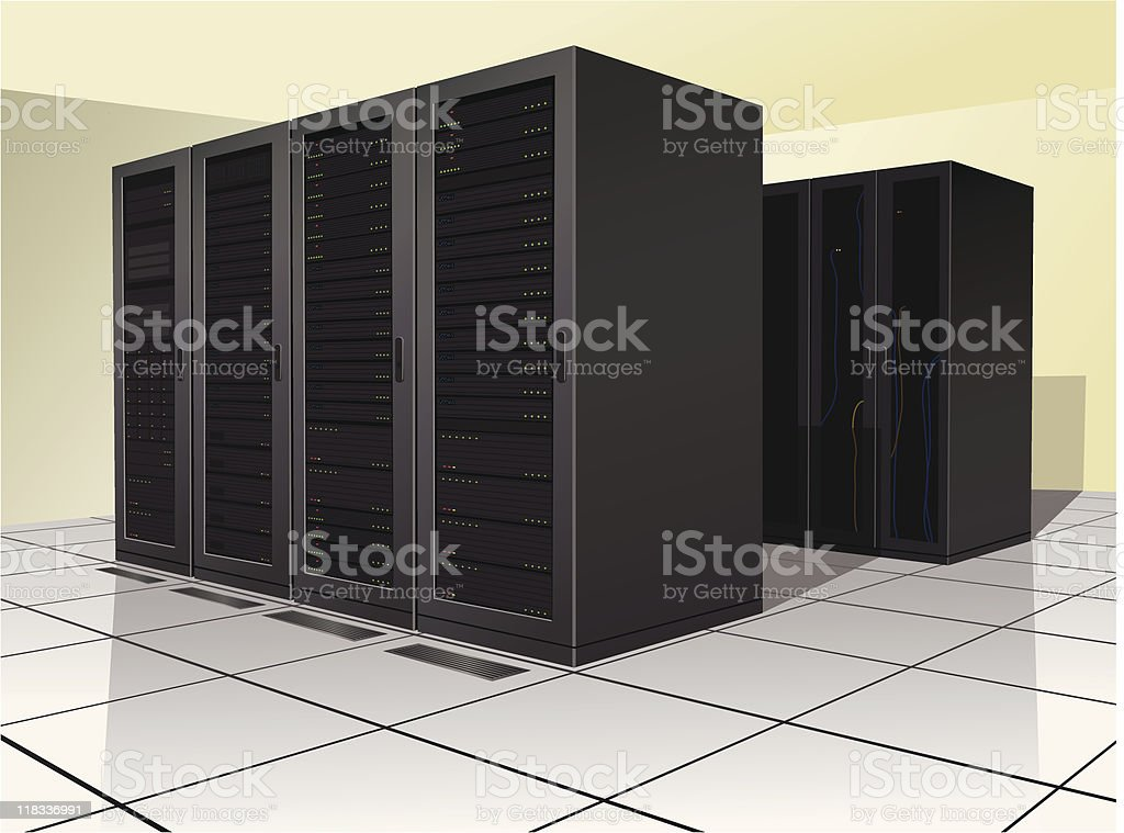 Data Center vector art illustration