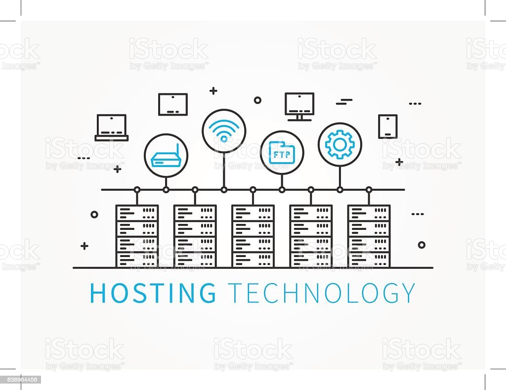 Data Hosting Infrastructure with server system. Analysis...