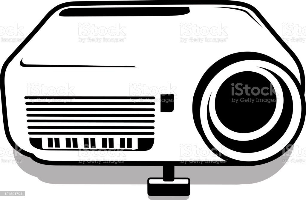 Data projector royalty-free stock vector art