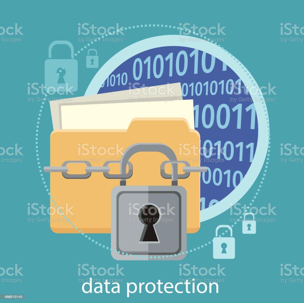 Data protection concept vector art illustration