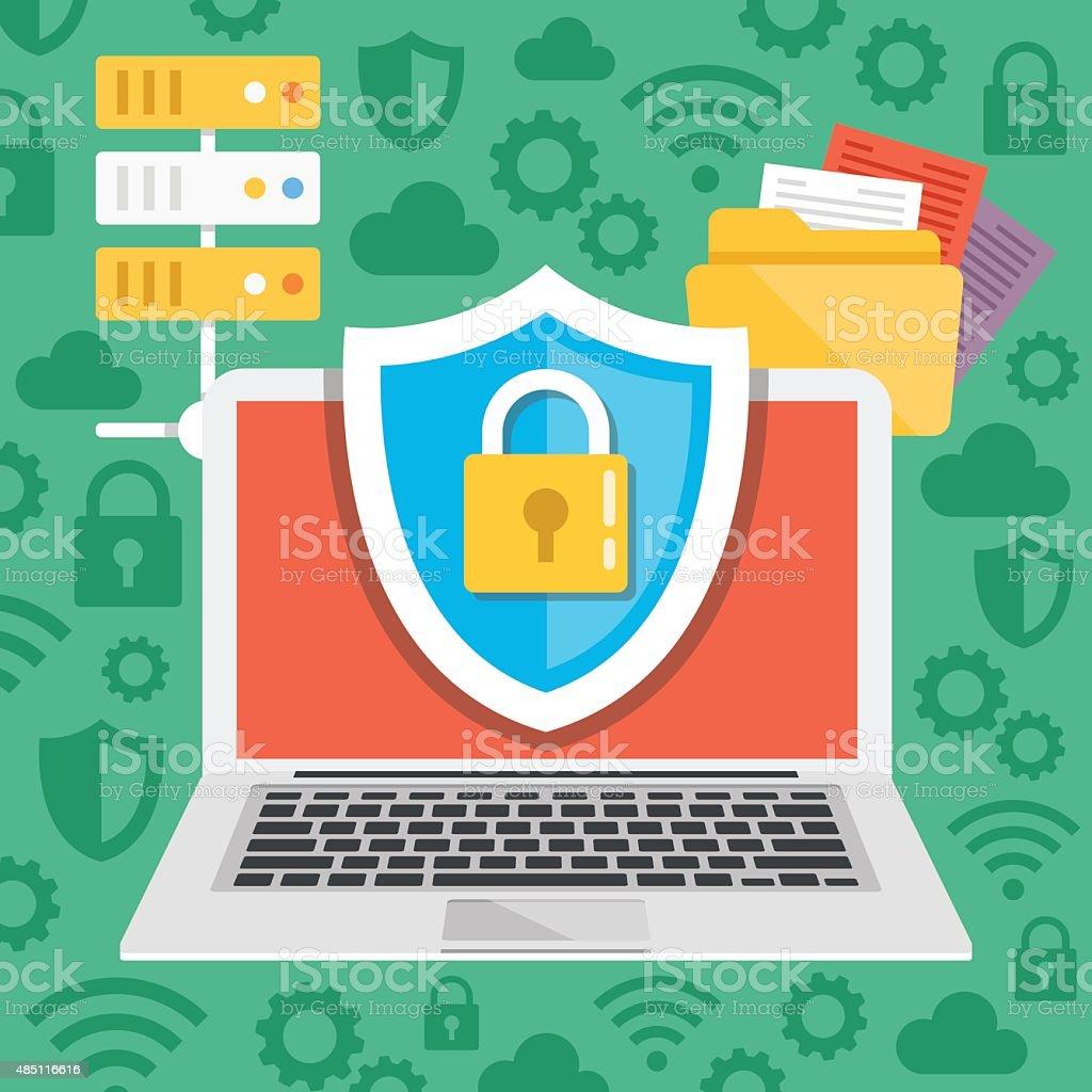 Data protection, internet security flat illustration concepts vector art illustration