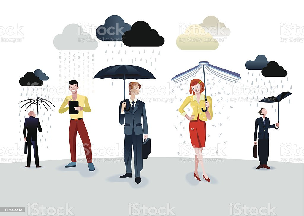 Data Rain royalty-free stock vector art