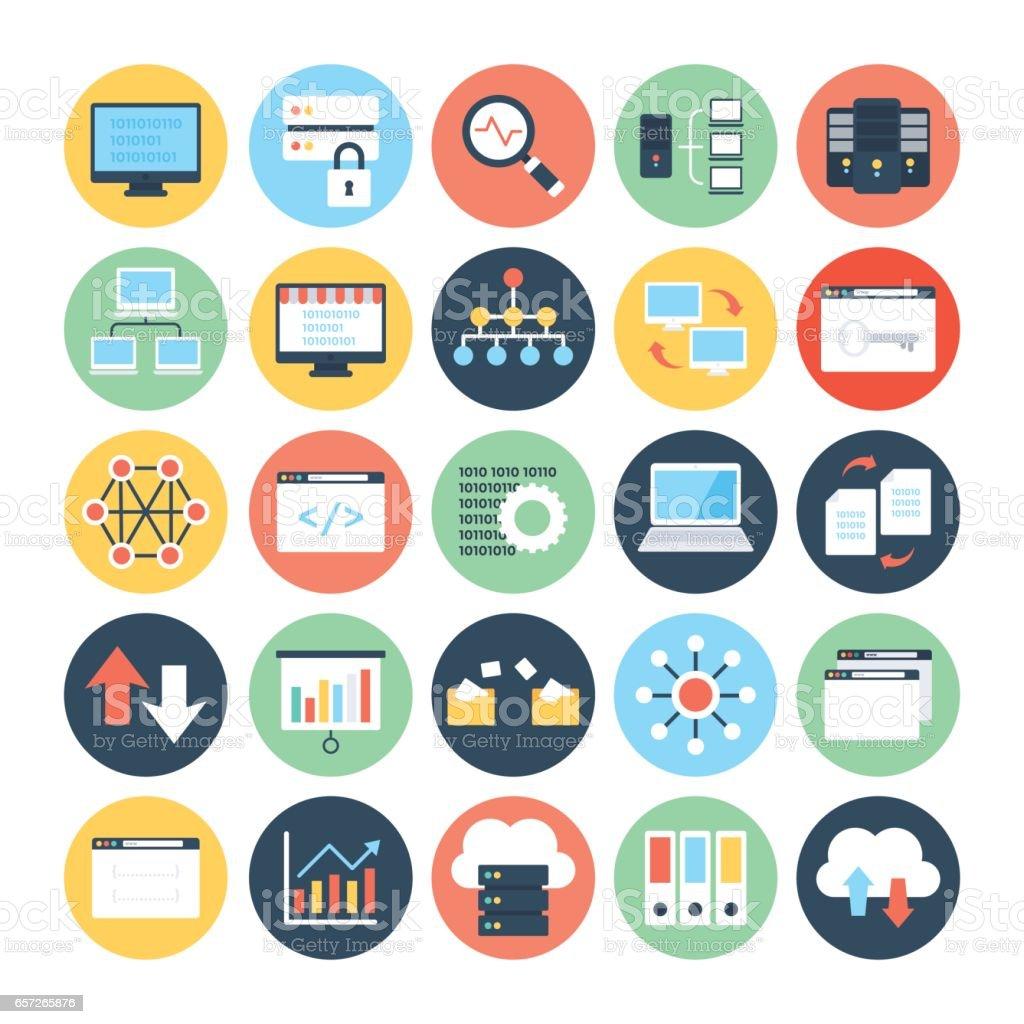 Data Science Vector Icons 2 vector art illustration