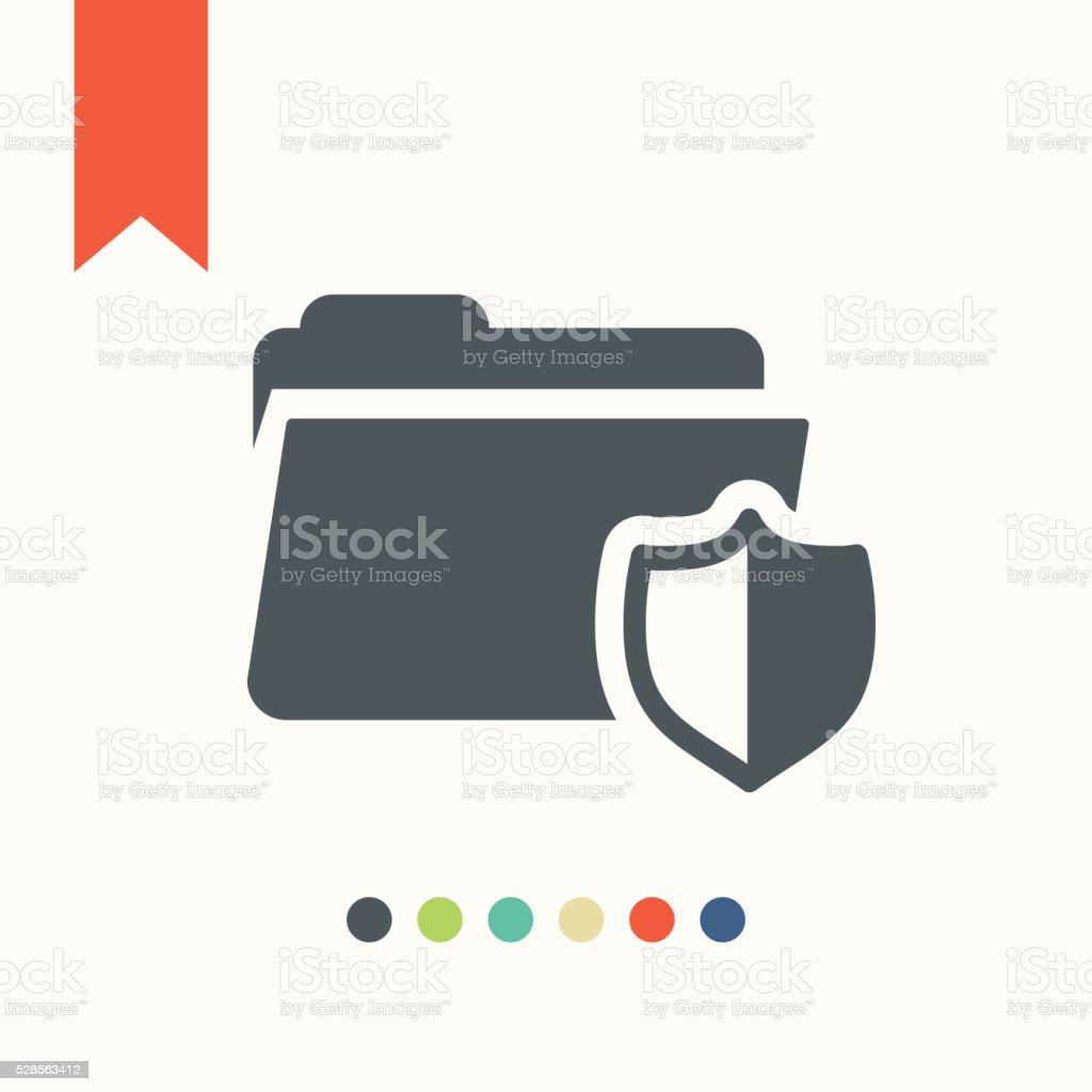 Data security icon vector art illustration