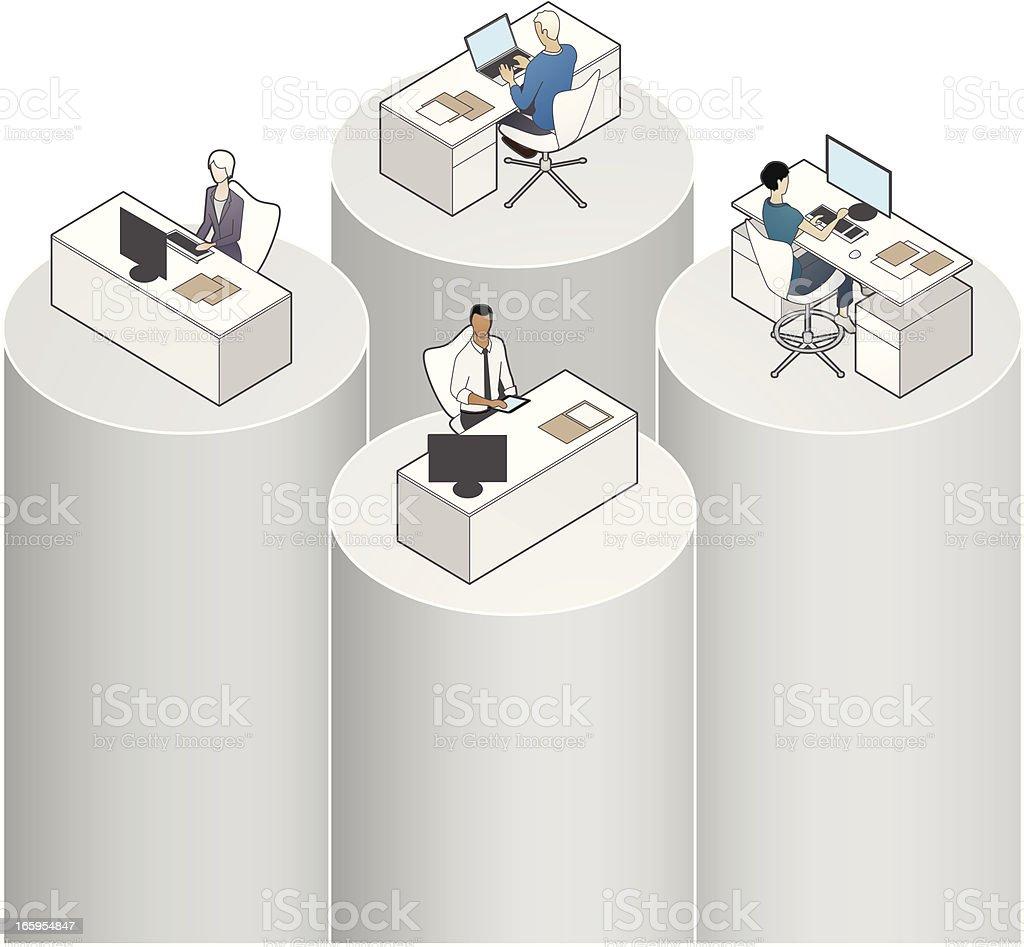 Data Silos Illustration vector art illustration