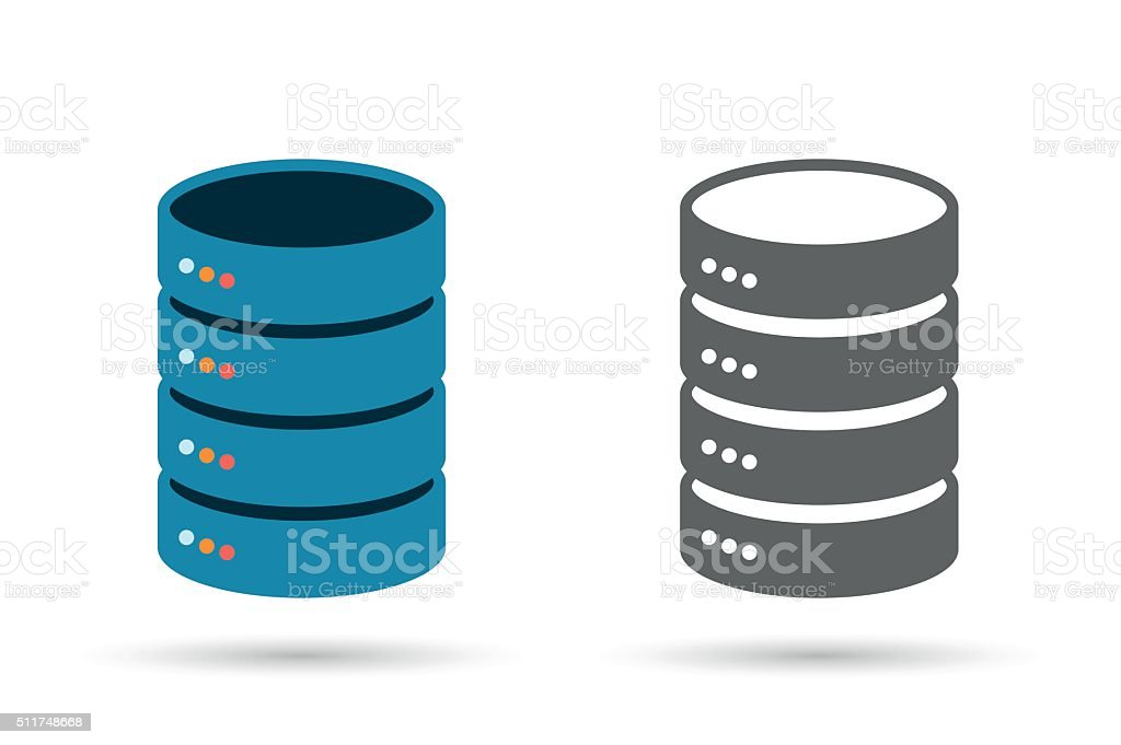 Data storage flat icon vector art illustration