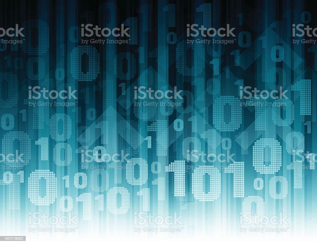 Data stream background vector art illustration