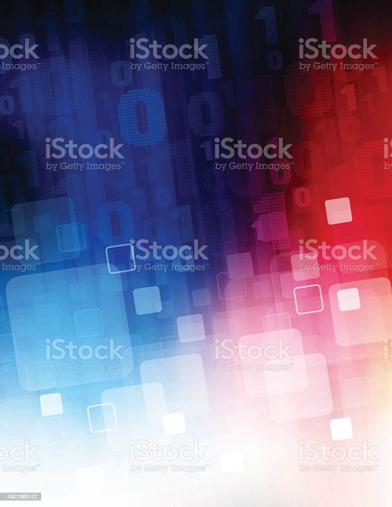 Data stream background vector art illustration