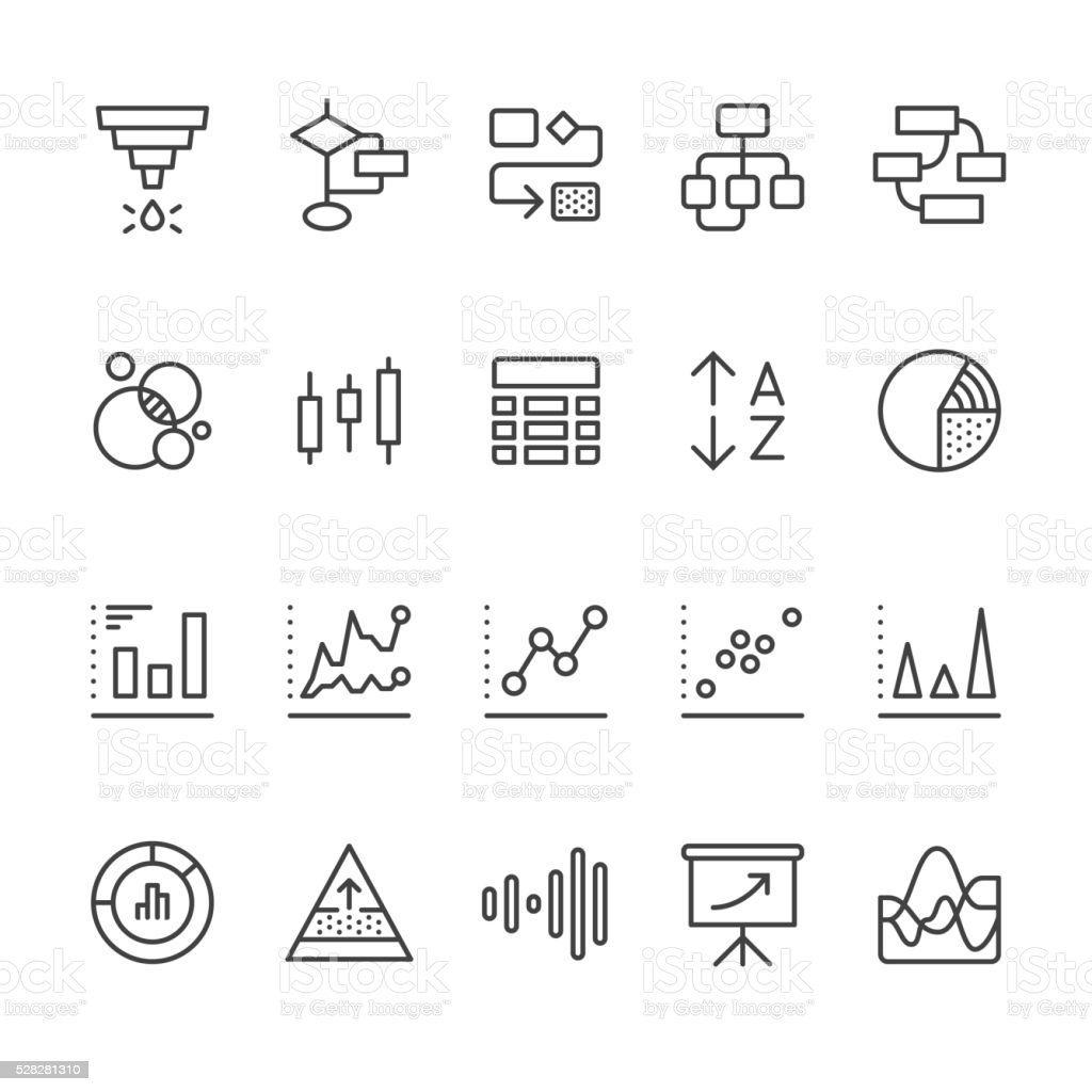 Data Visualization vector icons vector art illustration