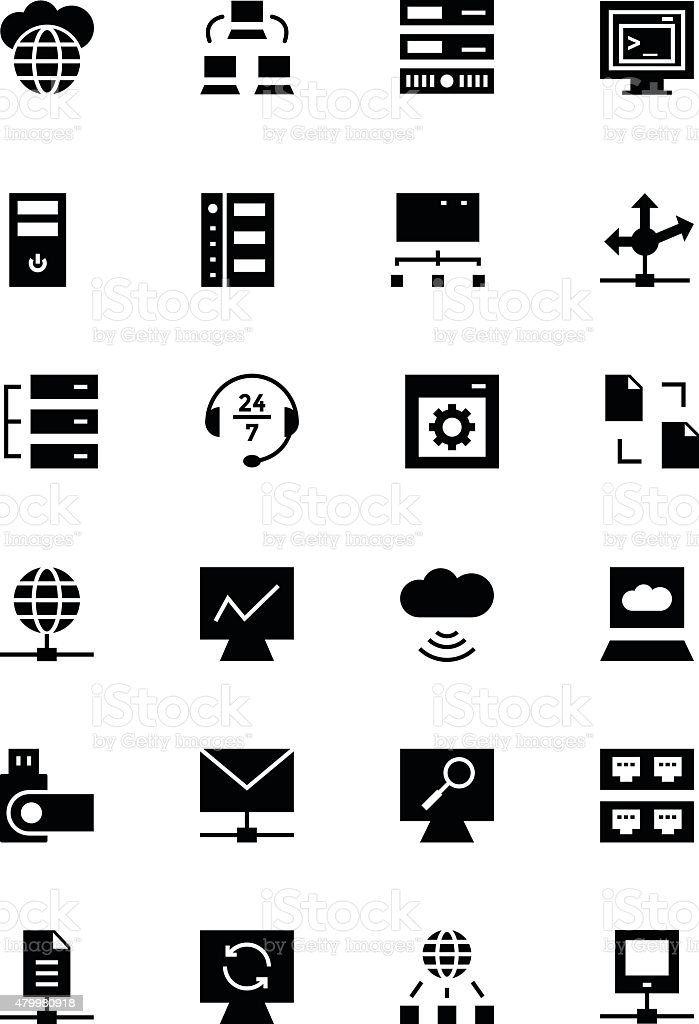 Database and Server Vector Icons 3 vector art illustration