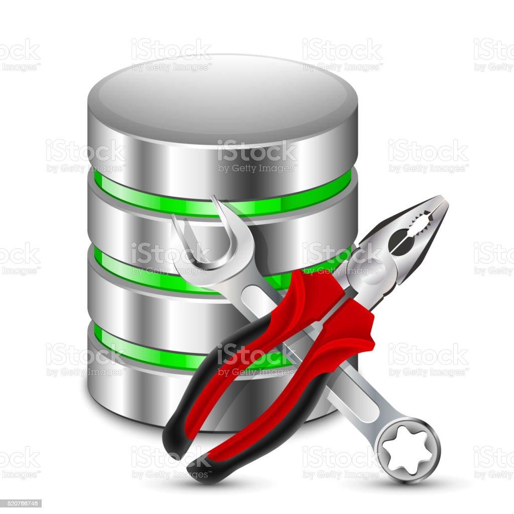 Database Configuration Icon. Vector Illustration vector art illustration