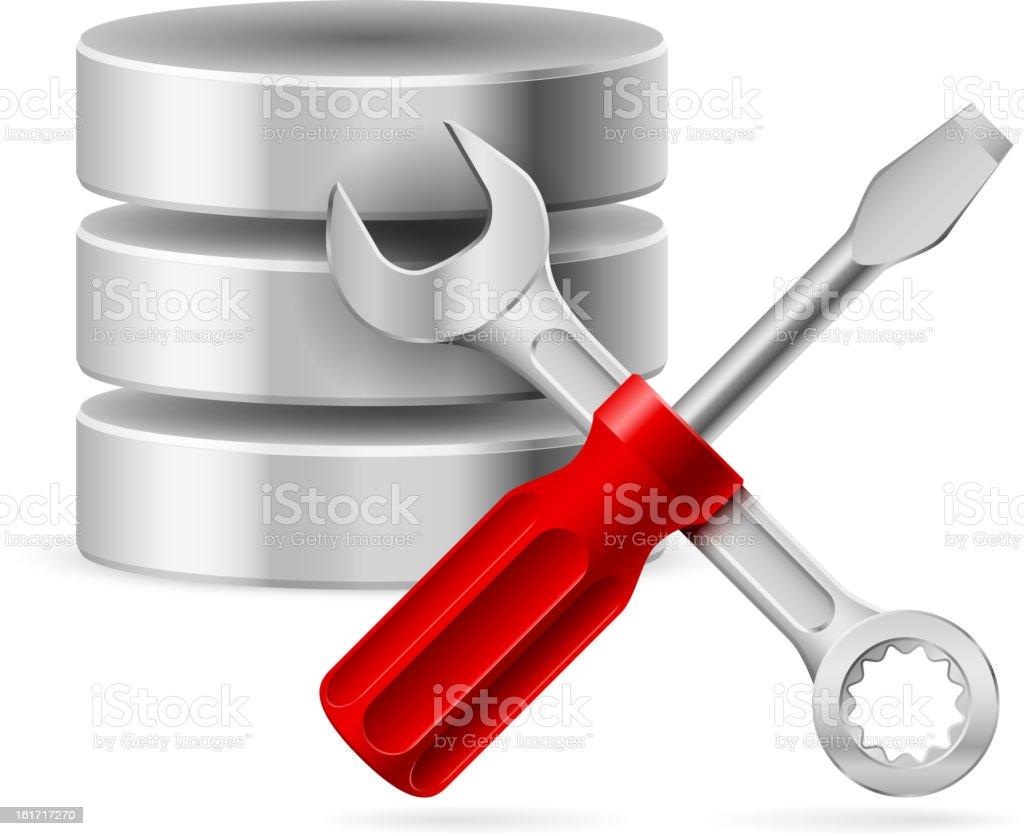 Database icon royalty-free stock vector art