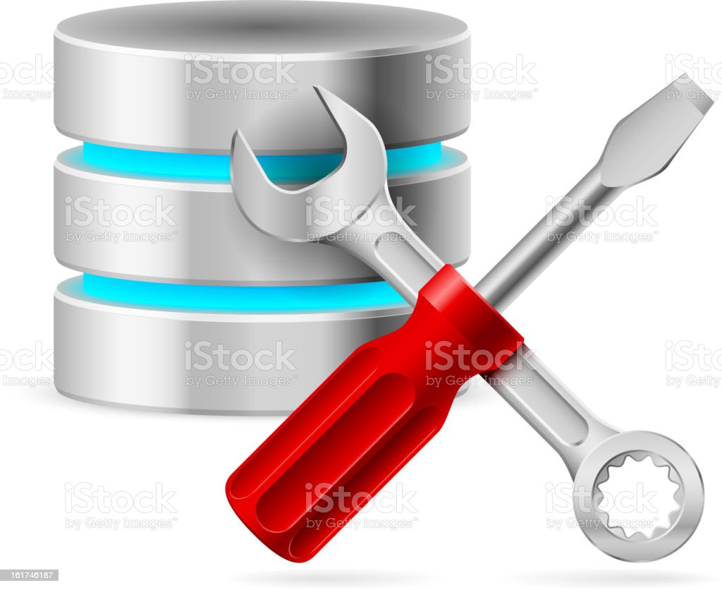 Database icon royalty-free stock vector art