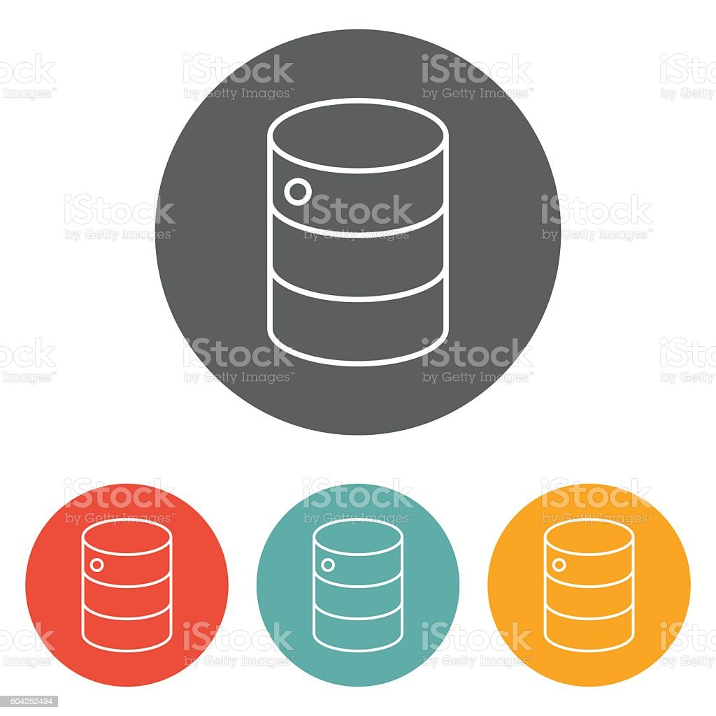 database icon vector art illustration